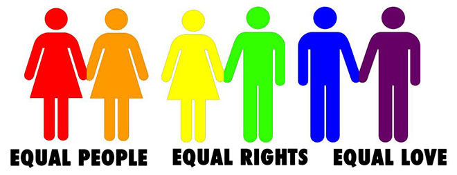 Equal peple, equal rights, equal love